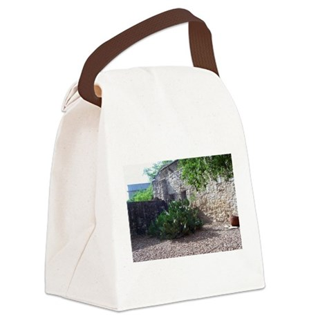 Corner Cactus Canvas Lunch Bag
