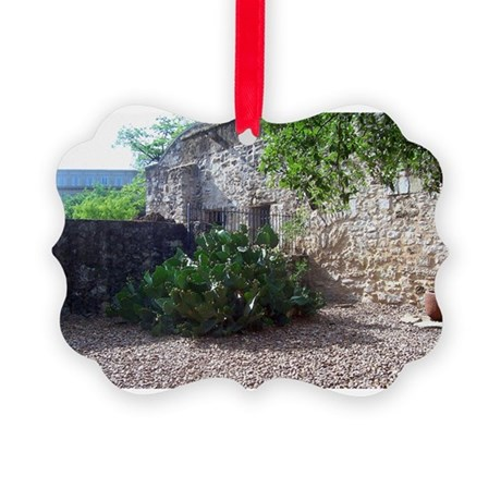 Corner Cactus Picture Ornament