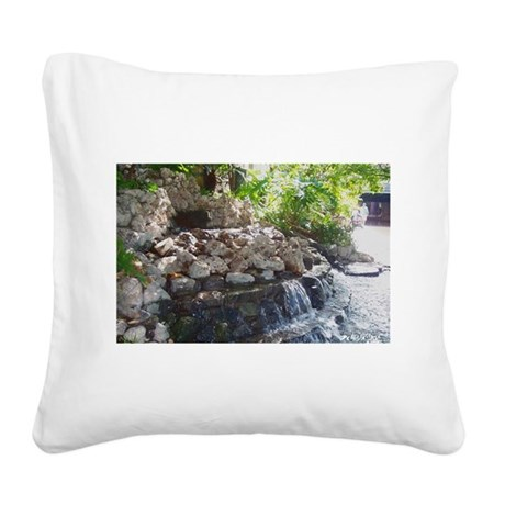 Waterfall Square Canvas Pillow