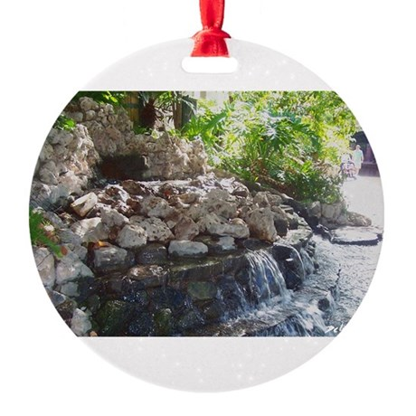 Waterfall Round Ornament