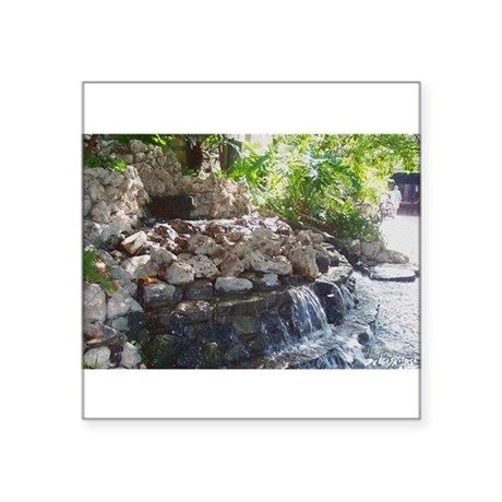 "Waterfall Square Sticker 3"" x 3"""