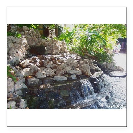 "Waterfall Square Car Magnet 3"" x 3"""