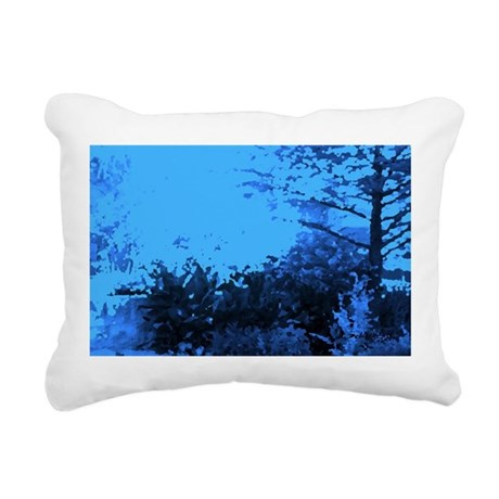 Blue Garden Rectangular Canvas Pillow