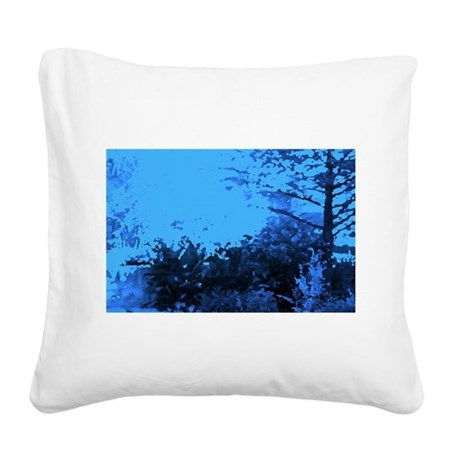 Blue Garden Square Canvas Pillow