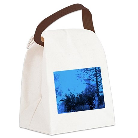 Blue Garden Canvas Lunch Bag