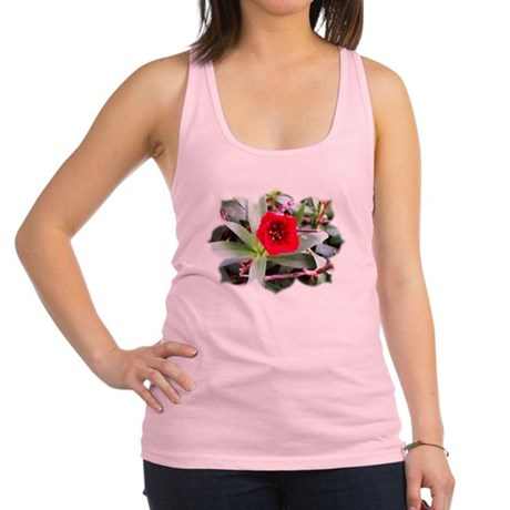 Red Flower Racerback Tank Top