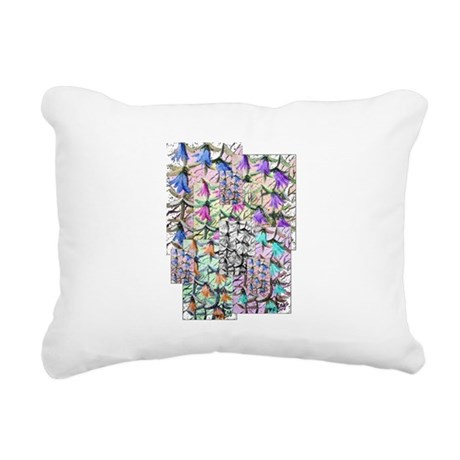 ladybells2blk.JPG Rectangular Canvas Pillow