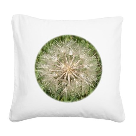 Milkweed Square Canvas Pillow