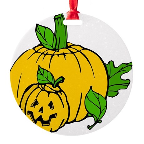 pumpkin.png Round Ornament