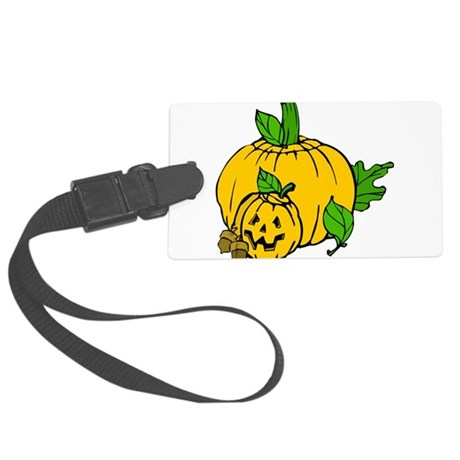 pumpkin.png Large Luggage Tag