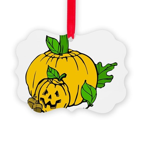 pumpkin.png Picture Ornament