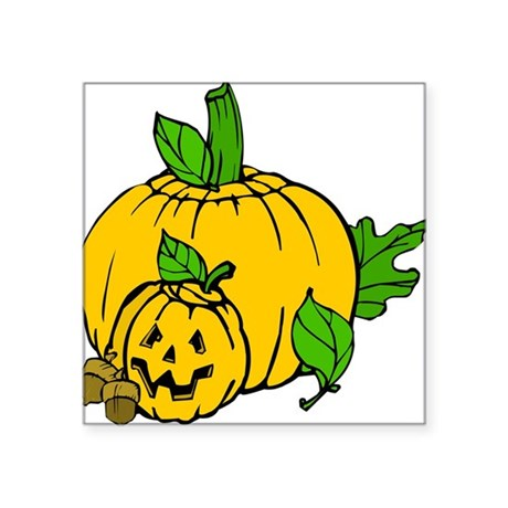 "pumpkin.png Square Sticker 3"" x 3"""