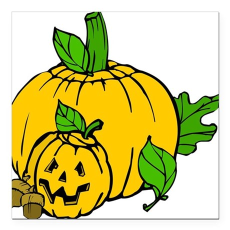 "pumpkin.png Square Car Magnet 3"" x 3"""