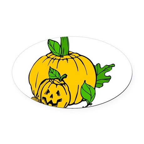 pumpkin.png Oval Car Magnet