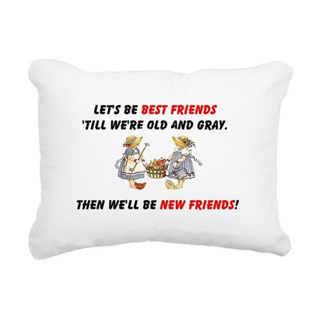 bestfriendsa.png Rectangular Canvas Pillow