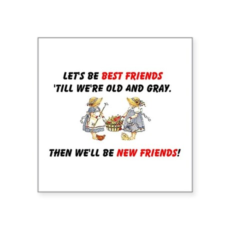 bestfriendsa.png Square Sticker 3&quot; x 3&quot;