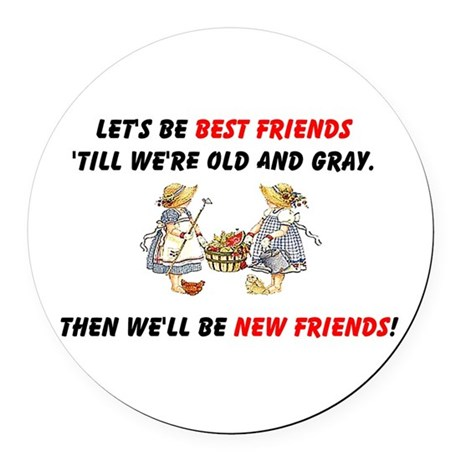 bestfriendsa.png Round Car Magnet