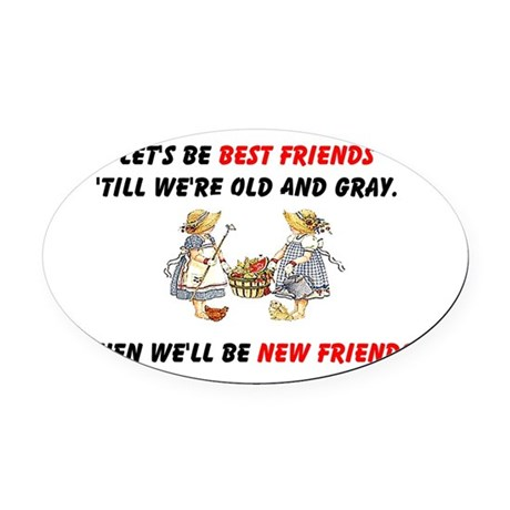 bestfriendsa.png Oval Car Magnet