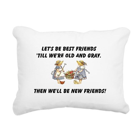 bestfriends.png Rectangular Canvas Pillow