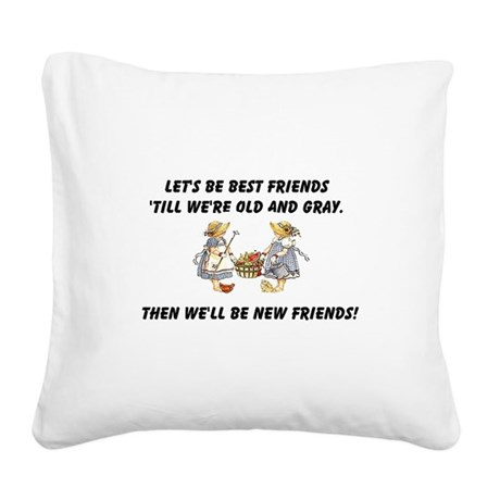 bestfriends.png Square Canvas Pillow