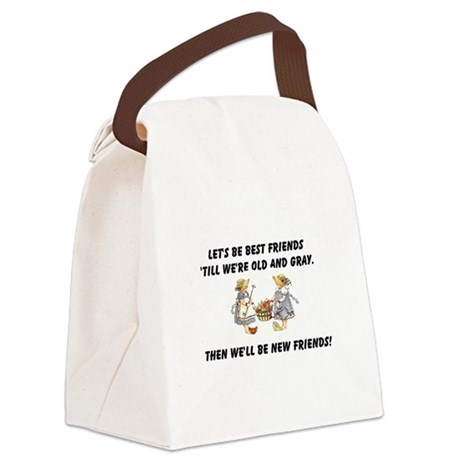 bestfriends.png Canvas Lunch Bag