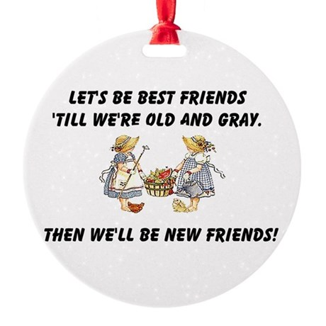 bestfriends.png Round Ornament