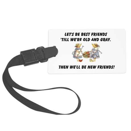 bestfriends.png Large Luggage Tag