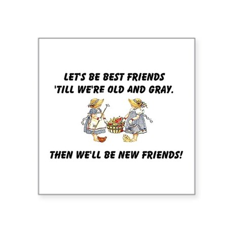 "bestfriends.png Square Sticker 3"" x 3"""