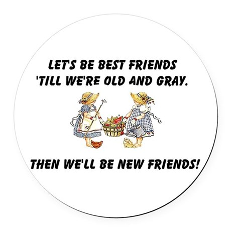 bestfriends.png Round Car Magnet