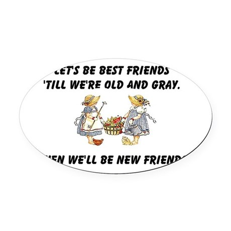 bestfriends.png Oval Car Magnet