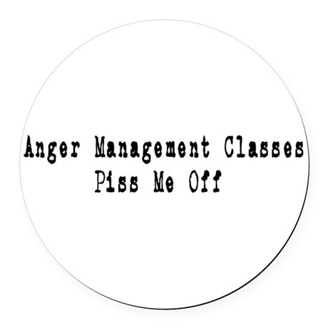 anger1.png Round Car Magnet