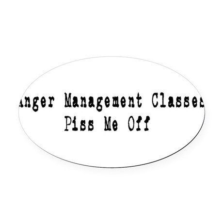 anger1.png Oval Car Magnet