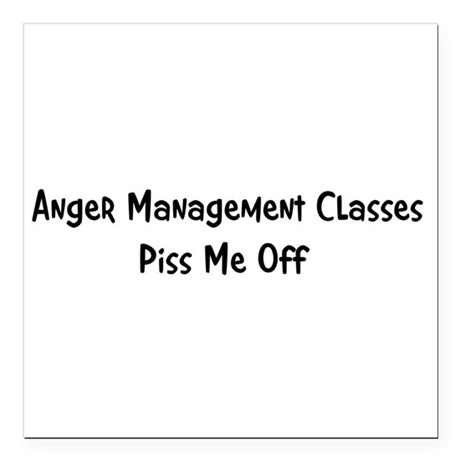 "anger3.png Square Car Magnet 3"" x 3"""