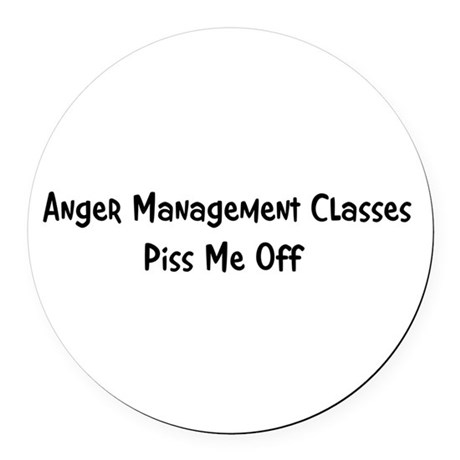 anger3.png Round Car Magnet