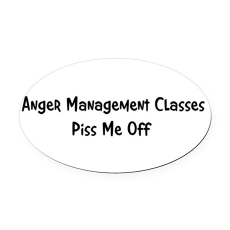anger3.png Oval Car Magnet