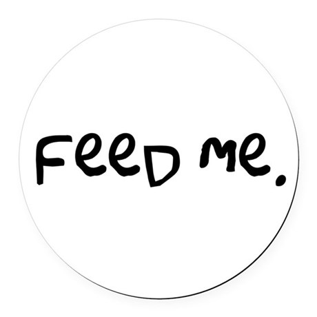feedme3.png Round Car Magnet