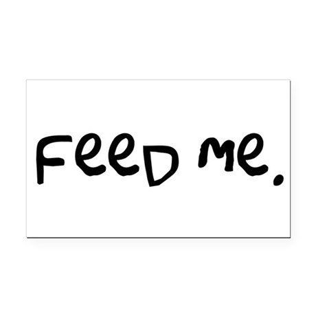 feedme3.png Rectangle Car Magnet