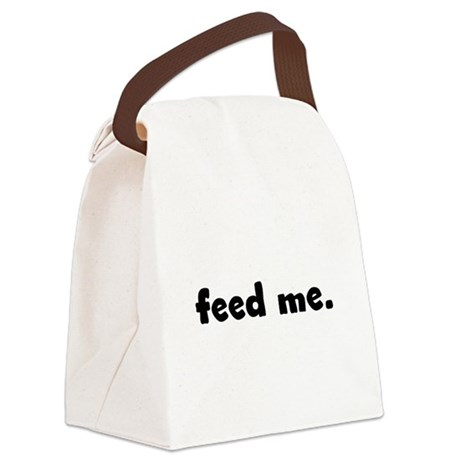 feedme.png Canvas Lunch Bag