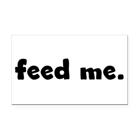 feedme.png Rectangle Car Magnet