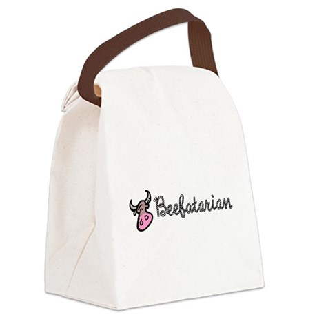 beefatarian.png Canvas Lunch Bag