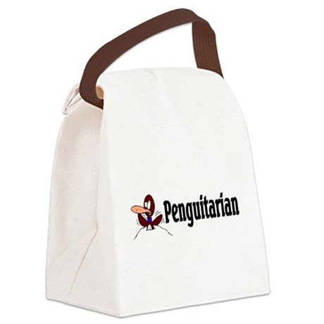 penguitarian.png Canvas Lunch Bag