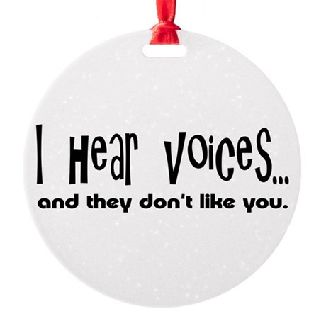voices.png Round Ornament