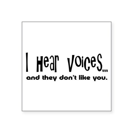 voices.png Square Sticker 3&quot; x 3&quot;