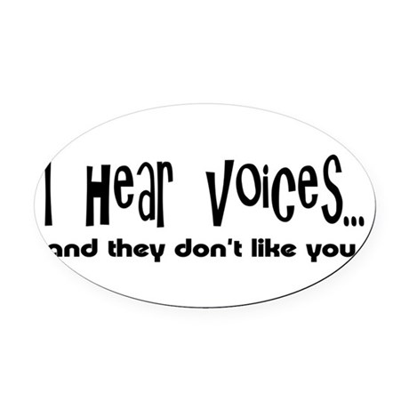 voices.png Oval Car Magnet