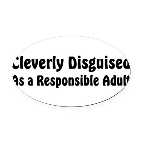 disguised2.png Oval Car Magnet