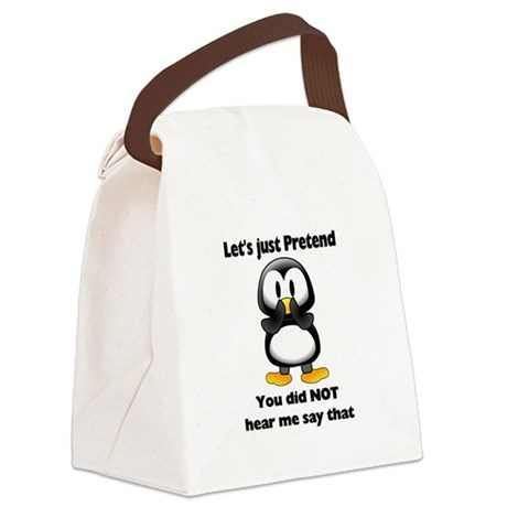 Pretend Penguin Canvas Lunch Bag