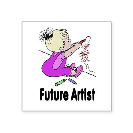 "artist.png Square Sticker 3"" x 3"""