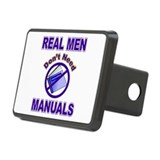 Real Men dont need manuals Rectangular Hitch Cover