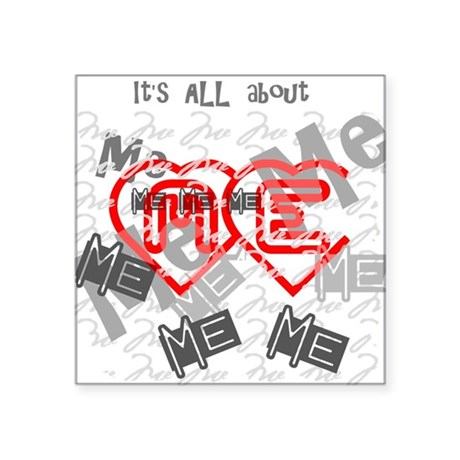 "me1b.png Square Sticker 3"" x 3"""
