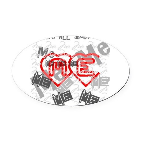 me1b.png Oval Car Magnet